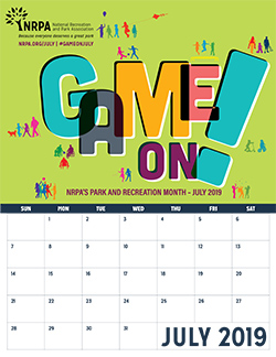 Park and Recreation Month Calendar