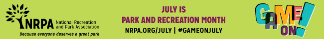 Park and Recreation Month Web Banner 650x80