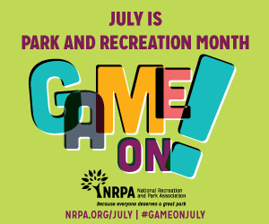Park and Recreation Month Web Banner 300x250