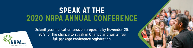 Speak at the 2020 NRPA Annual Conference