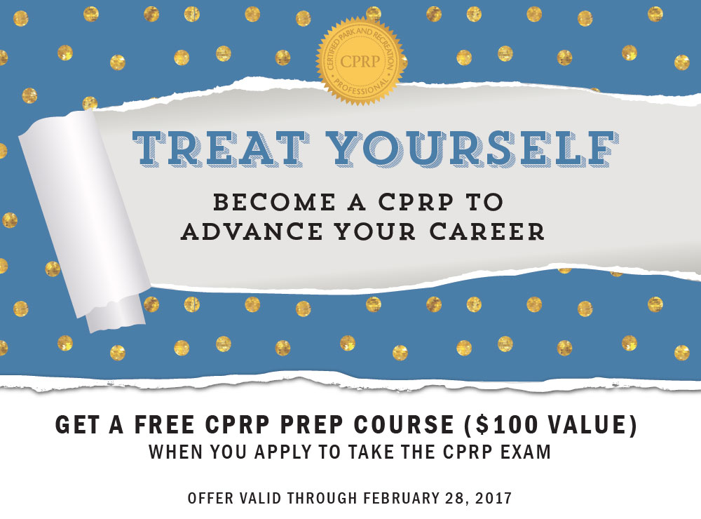 Treat Yourself - Become a CPRP