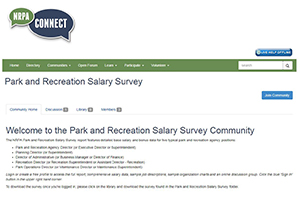 NRPA Connect: Park and Recreation Salary Survey Community