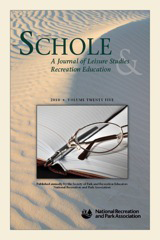 SCHOLE: A Journal of Leisure Studies & Recreation Education