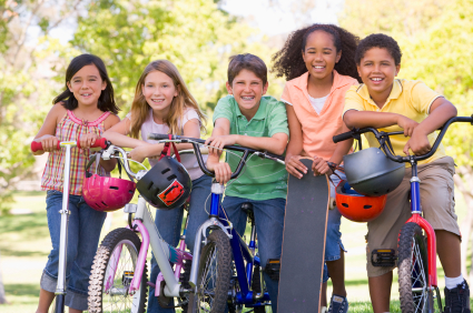 Health and Liviability Kids with Bikes