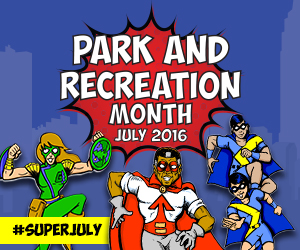 Park and Recreation Month 300x250 Banner Ad