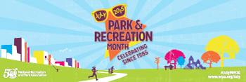 Park and Recreation Month Hanging 6x2 Banner Ad