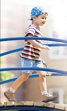 A kid who plays and has nearby access to a park is much likelier to be a healthy weight.