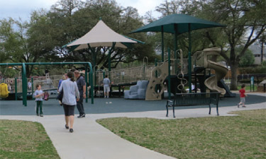 Of the seven playgrounds observed this spring in College Station, Texas, the accessible Independence Playground was the most used.