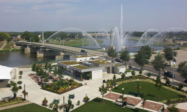 In Ohio, Dayton's system of riverside bike trails converges at the Bike Hub, a multi-functional LEED Silver facility.