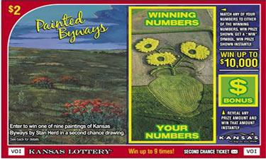 The Kansas Lottery's Art in the Parks scratch-off game reminds Kansans of the variety of opportunities available to them by visiting a nearby park.