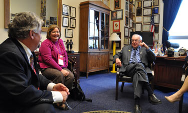 The North Carolina delegation meets with Rep. Howard Coble (R-NC).