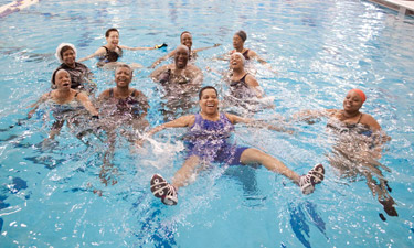 Prince George's County seniors enjoy a water aerobics class.