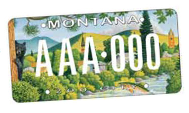 Missoula, Montana, residents can now show their appreciation for parks and recreation with a themed license plate.