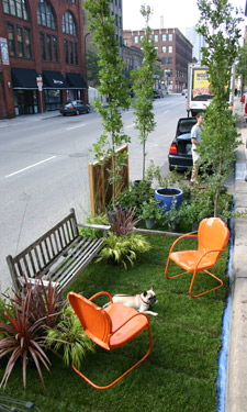 This September 21, take a stand fror urban greenspace by reclaiming an on-street parking spot and transforming it into a temporary urban oasis.