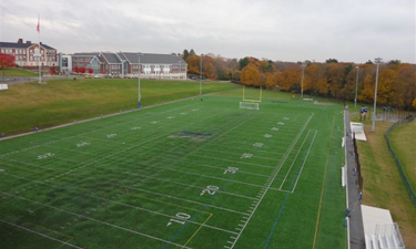 The conversion of this field in Needham, Massachusetts, has allowed for a longer playing season and more frequent games.