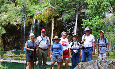 Thanks to a shuttle van donated after its retirement from the public transit fleet, Palisade Recreation is able to offer inexpensive trips, such as this hiking excursion to Hanging Lake.