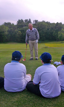 Lessons from the Grandest Master: Jack Nicklaus imparts some of his legendary wisdom with young beginners.