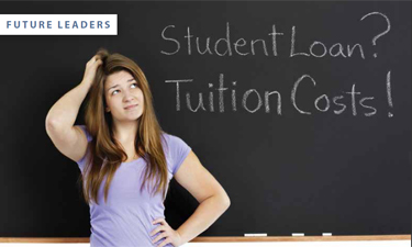 Financial help is available for young professionals struggling with student loans.