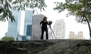 Adrian Sas, a staff producer for New York City Parks and Recreation, films content for a regular broadcast series on covering interesting highlights from NYC parks.