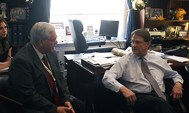 2010 Legislative Forum delegates meet with former Rep. Charlie Melancon (D-LA) at his office on Capitol Hill.