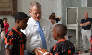 Rep. Mike McIntyre is a strong advocate of youth sports.