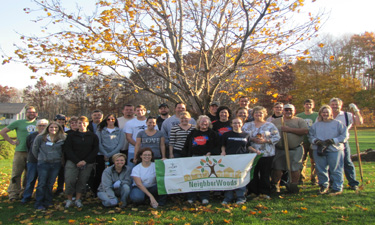 Friends of Grand Rapids Parks in Grand Rapids, Michigan, host a National Neighborwoods Month tree planting.