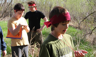 Zombie Survival Camp participants put their new orienteering skills into practice.