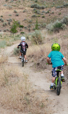 An Olympic gold-medal cyclist helps develop a kid-focused mountain biking trail in Boise, Idaho.