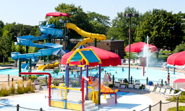 A view of the new Bloomingdale Park District Oasis Water Park.