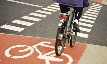 Infastructure for safe walking and bicycling is often lacking in underserved areas.