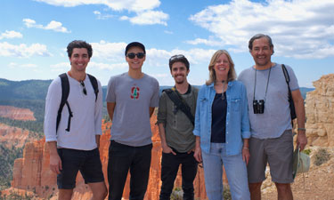 Robert Garcia (far right), his wife and sons at Bryce Canyon National Park, Utah, in 2014.