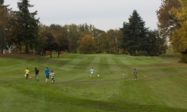 Children and families enjoy the added soccer/disc golf amenity, which opens up Middlefield to more members of the community.