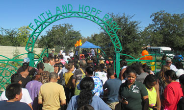 The Los Angeles Neighborhood Land Trust, with funding from Prop. 84, built Faith and Hope Park in an underserved neighborhood.