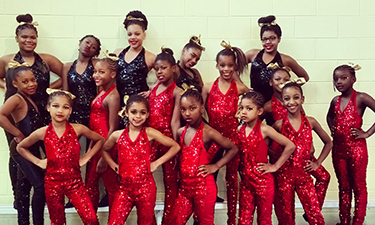 Some of the 25-member StarrFire Dance Team from the Deanwood Recreation Center in Northeast Washington, D.C.